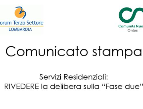 Comunicato Stampa Forum Terzo Settore Lombardia